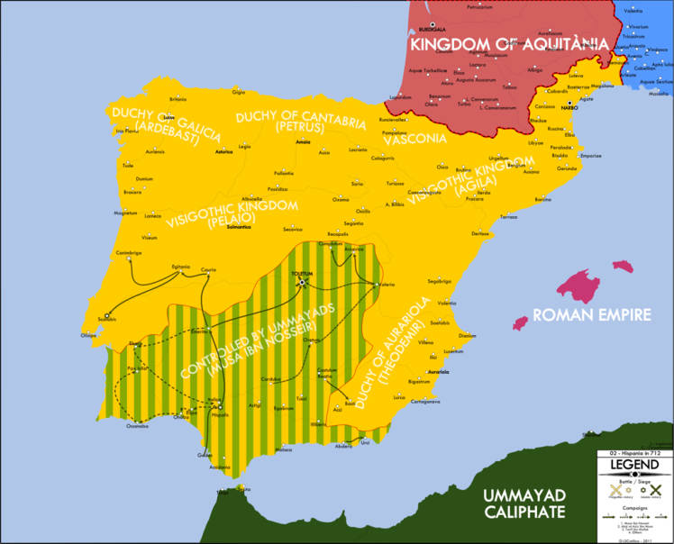 Berber invasion of Hispania_710s